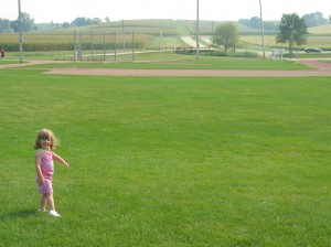 My daughter on the Field of Dreams