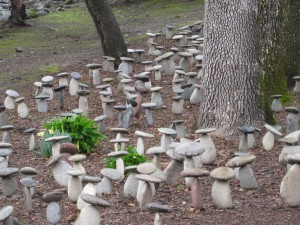 Napa mushroom sculptures