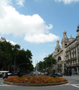 Sightseeing in Barcelona, Spain
