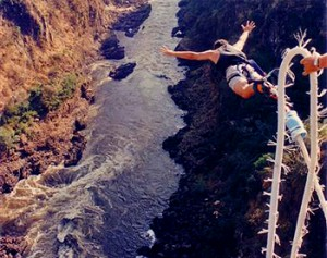 Image of bungee jumper