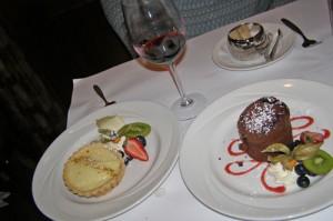 Dessert at Bouchon Bistro