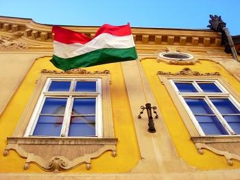 Hungary - flag; Photo credit: Megan Eaves