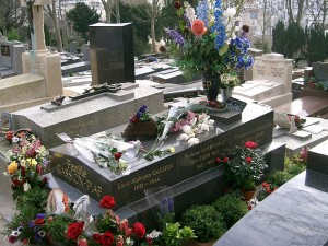 Gravesite of Edith Piaf in Paris, France