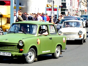 GDR Trabants on the streets of Berlin