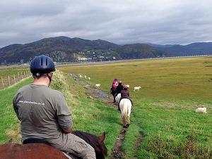 Pony trekking in Wales