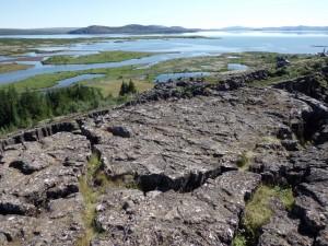 The sprawling Thingvellir Lake, Iceland, park