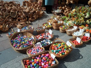 Baskets of cheery eggs and other regulars of the season, Krakow