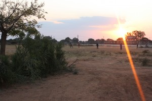 Children Playing Soccer in Palapye