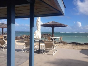 View From Beach Bar Nisbet Plantation Nevis