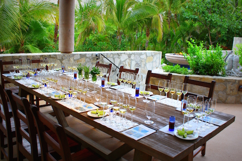 Tequila tasting in the Herb Garden (Credit: One&Only Palmilla)