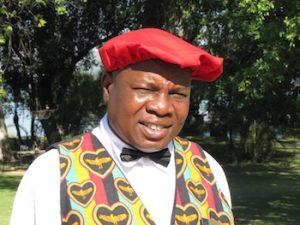 Storyteller Edward Minyoi of the Royal Livingstone Hotel