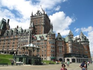 The madly ornate Chateau Frontenac hotel