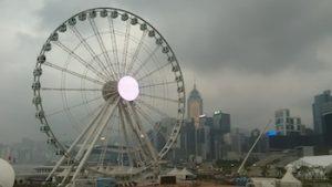 Hong Kong under the storm clouds