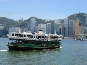 The Star Ferry crossing Victoria Harbour