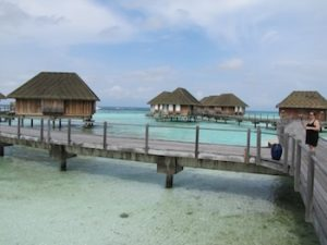 Some stilt villas at Kani resort