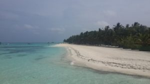 A deserted beach at Club Med Kani