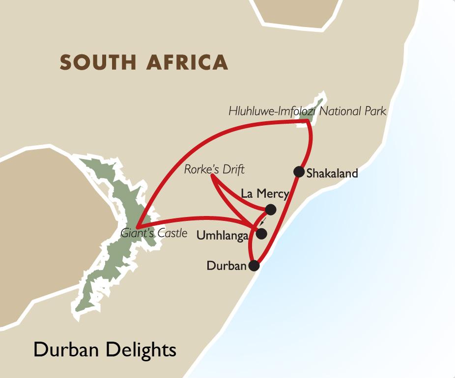 Durban Delights Map