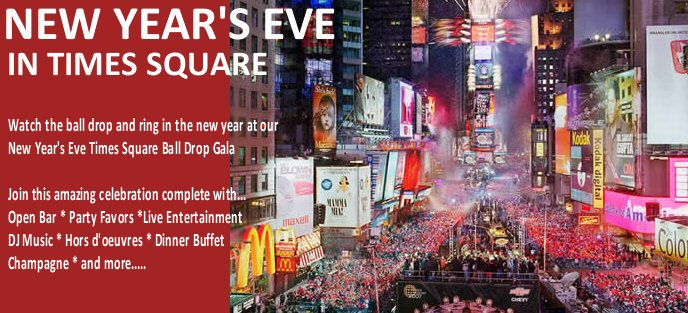 Learn more about: New Year's Eve Times Square Ball Drop Vacation