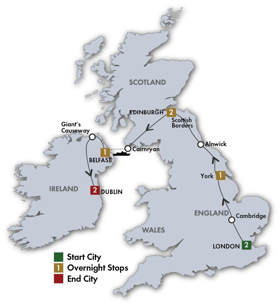 British and Irish Delight map