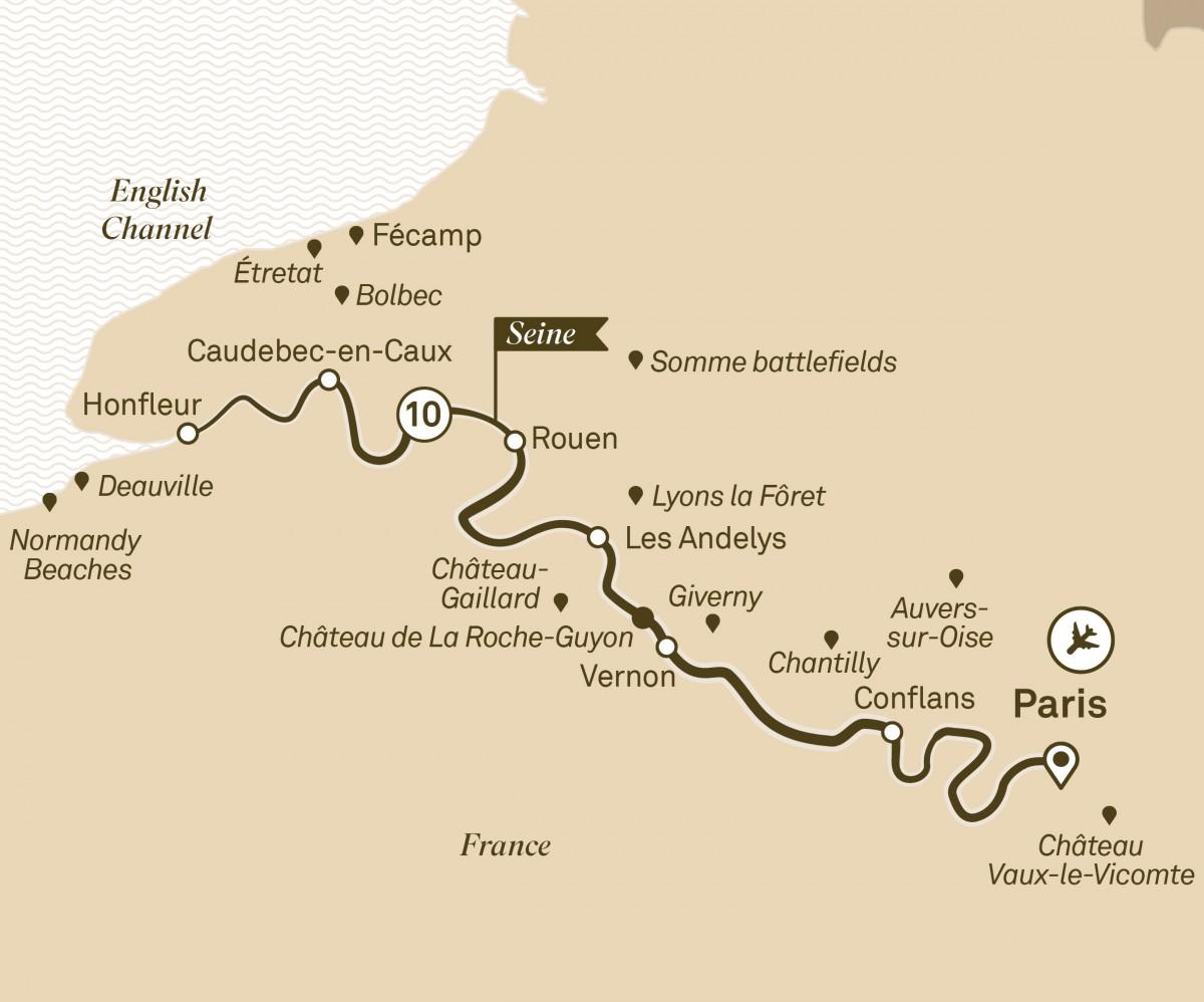 Normandy Seine Map