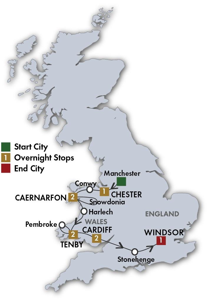 Taste of Wales Map