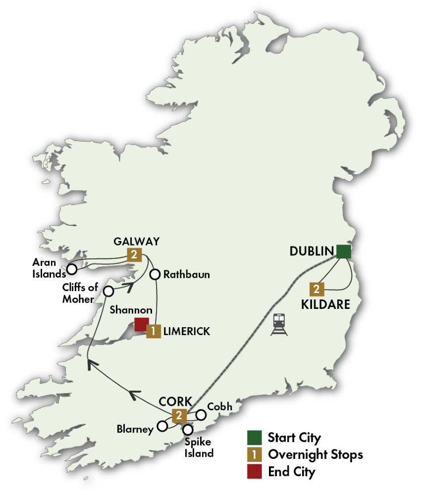 2018 Irish Myths And Legends Brochure Map