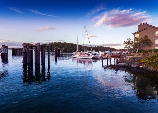 At the dock in Friday Harbor, WA