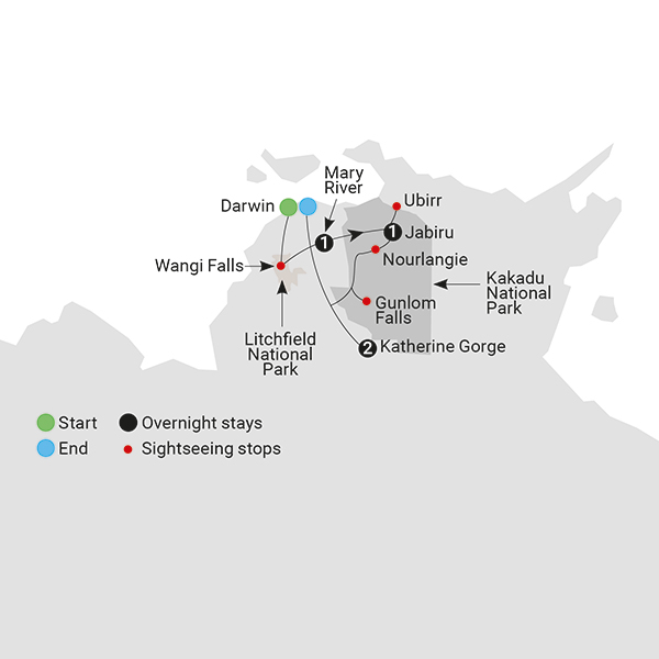 Kakadus Ancient Secrets Map