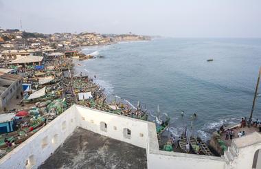 Accra overlooking coast