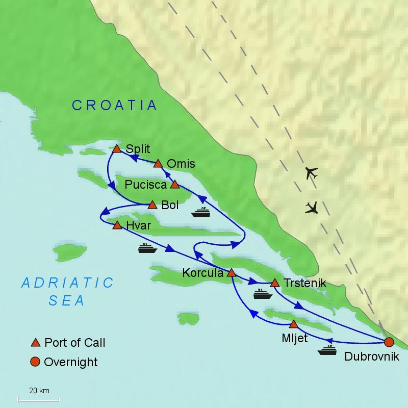 Croatian Jewels Map