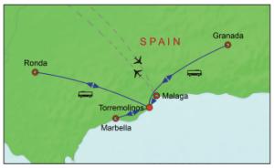 Costa del Sol Group Escape Map