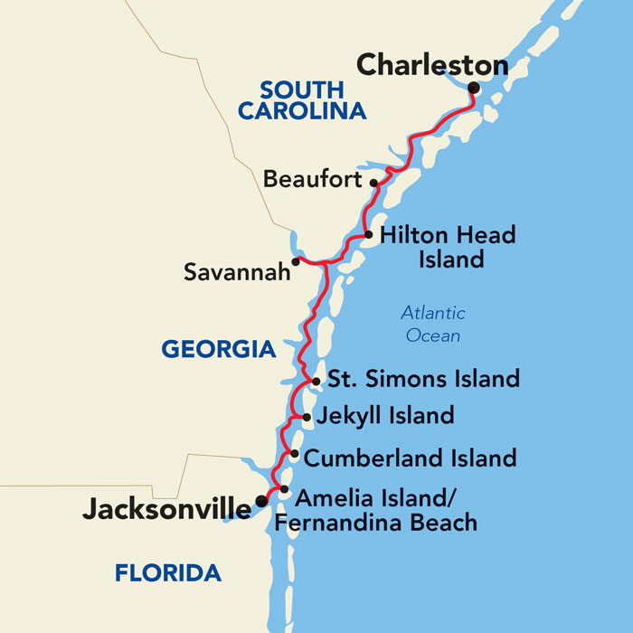Historic South Golden Isles Map
