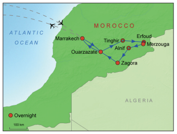 Gems of Morocco Map