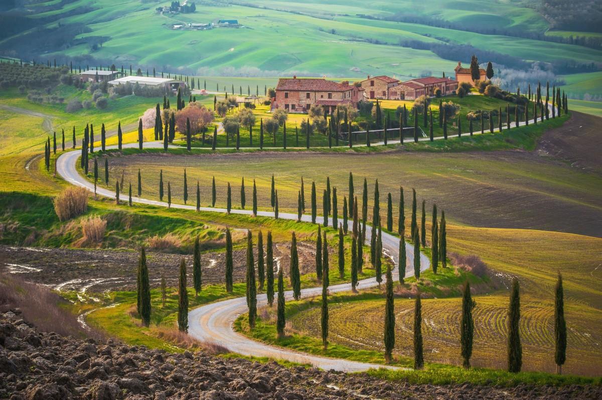 Tuscany Italy fields