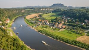 Danube-river-Saxony-mountains