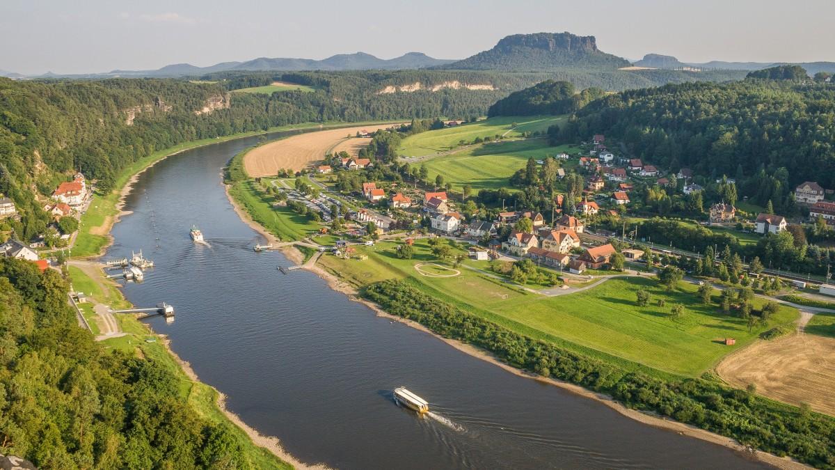 Danube-river-Saxony-mountains