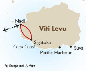 Fiji Escape Including Airfare map