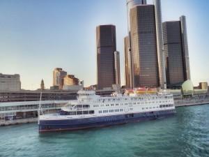 Cruise Ship docked in Detroit