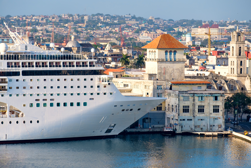Cruise ship docked at Old Havana